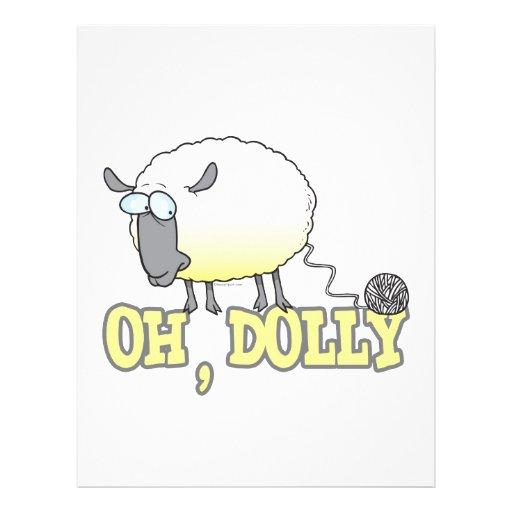 "oh ovejas reproducidas divertidas del hilado del c folleto 8.5"" x 11"""