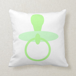 Oh pacificador verde del bebé cojín