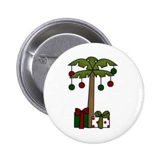 Oh palmera del navidad pin redondo 5 cm