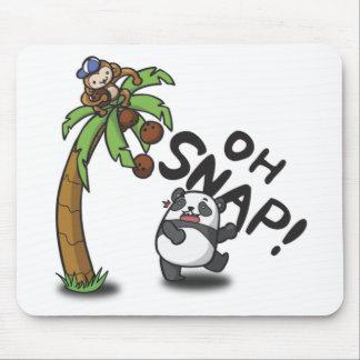 Oh panda y mono rápidos alfombrilla de ratón
