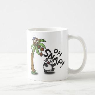 Oh panda y mono rápidos taza de café