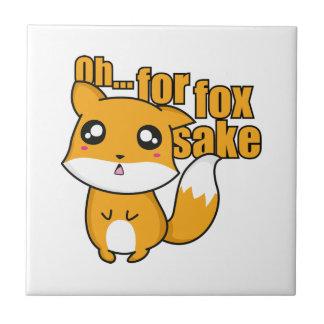 Oh… Para el motivo del Fox Azulejo Cuadrado Pequeño