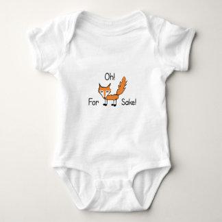¡Oh! ¡Para el motivo del Fox! Body Para Bebé