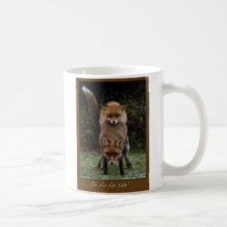 Oh para el motivo del Fox Tazas De Café