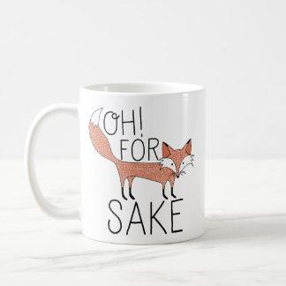 ¡Oh! Para el motivo del Fox Taza Básica Blanca
