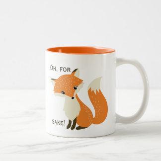 Oh, para el motivo del Fox Taza De Dos Tonos