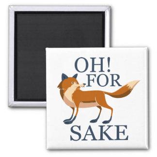 Oh para el motivo del zorro imán cuadrado