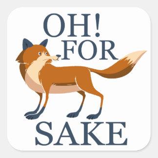 Oh para el motivo del zorro pegatina cuadrada