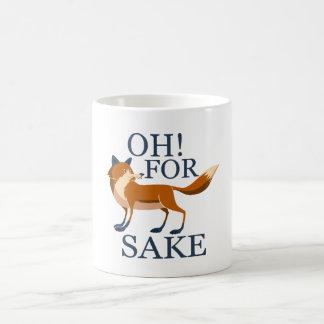 Oh para el motivo del zorro taza