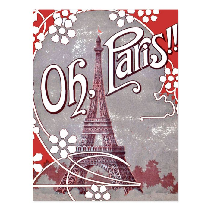 Oh Paris Eiffel Tower Postcard