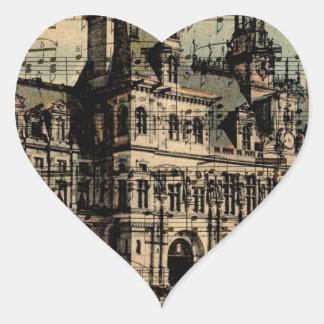 Oh Paris Heart Sticker