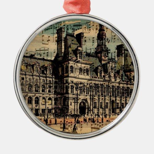 Oh Paris Metal Ornament