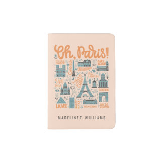 Oh, Paris! | Town Typography Passport Holder