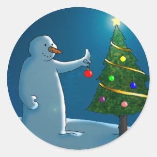 Oh pegatina del árbol de navidad