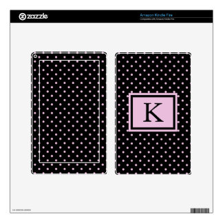 Oh Polly Dots Monogram Skin For Kindle Fire