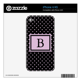 Oh Polly Dots Monogram Skins For iPhone 4S
