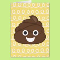 Oh Poop (Emoji) Belated Birthday Card