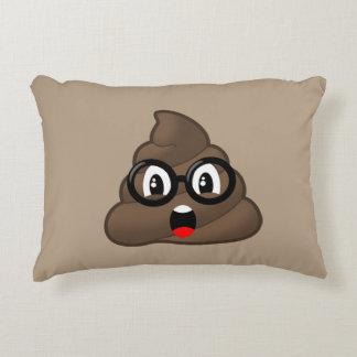 Oh Poop Emoji w/Glasses Decorative Pillow