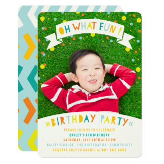 """Oh qué fiesta de cumpleaños del muchacho del punto invitación 5"""" x 7"""""""