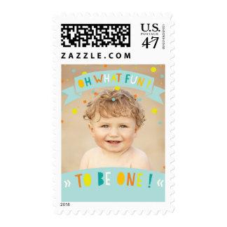 Oh qué foto de la fiesta de cumpleaños del confeti sellos postales