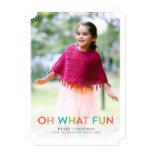 Oh qué tarjeta de la foto del día de fiesta de la invitación personalizada