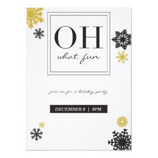 """oh qué tarjeta del día de fiesta de la diversión invitación 5.5"""" x 7.5"""""""