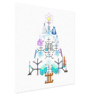 Oh química, oh árbol del químico impresión en lona estirada