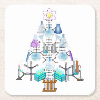 Oh química, oh árbol del químico posavasos de cartón cuadrado