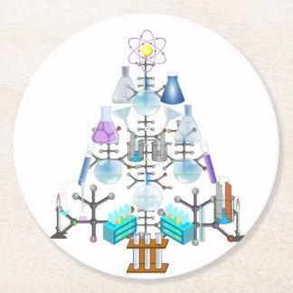 Oh química, oh árbol del químico posavasos de cartón redondo