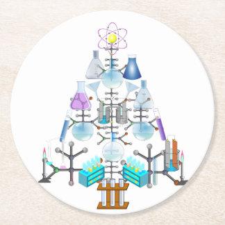 Oh química, oh árbol del químico posavasos personalizable redondo