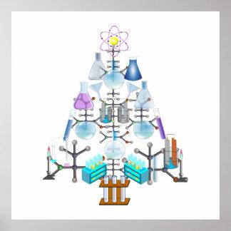 Oh química, oh árbol del químico póster