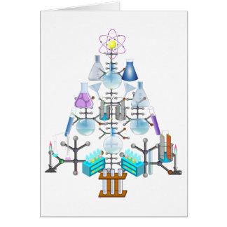 Oh química, oh árbol del químico tarjeta de felicitación