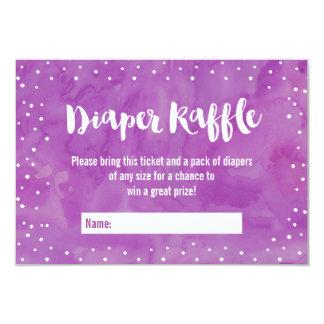 """Oh rifa púrpura del pañal de la fiesta de invitación 3.5"""" x 5"""""""