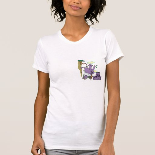 oh rinoceronte rápido en dibujo animado colgante camisetas