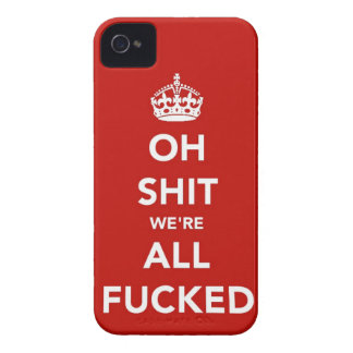 Oh S*** We're All F'ed Blackberry Bold Case