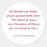 Oh sangre y agua… pegatina redonda