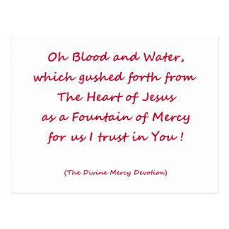 Oh sangre y agua… postal