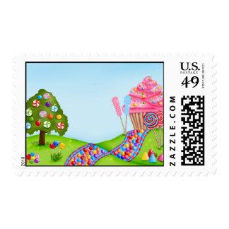 Oh sellos dulces de la tierra del caramelo