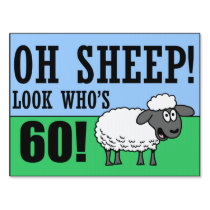 Oh Sheep Look Who's 60 Sign
