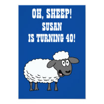 Oh Sheep Someone Is Turning 40 40th Birthday Invitation