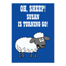 Oh Sheep Someone Is Turning 60 60th Birthday Invitation