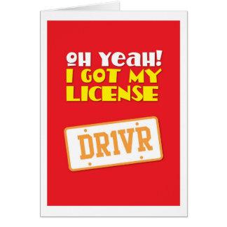 ¡Oh sí! ¡Conseguí mi licencia! DR1VER Tarjeta Pequeña