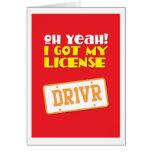 ¡Oh sí! ¡Conseguí mi licencia! DR1VER Tarjeton