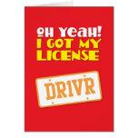 ¡Oh sí! ¡Conseguí mi licencia! DR1VER Tarjetón
