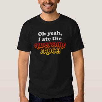 ¡OH SÍ, YO COMÍ LA SALSA IMPRESIONANTE! Camiseta Poleras