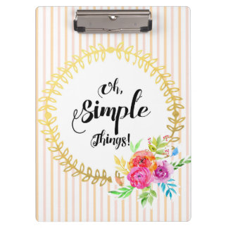 Oh, Simple Things! Clipboard