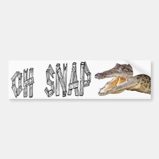 OH SNAP - Angry Gator Bumper Sticker