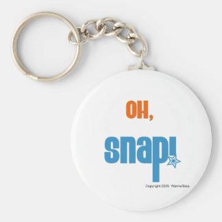 Oh, Snap Basic Round Button Keychain