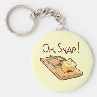 Oh, Snap! Basic Round Button Keychain