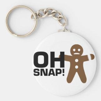 Oh Snap! Basic Round Button Keychain